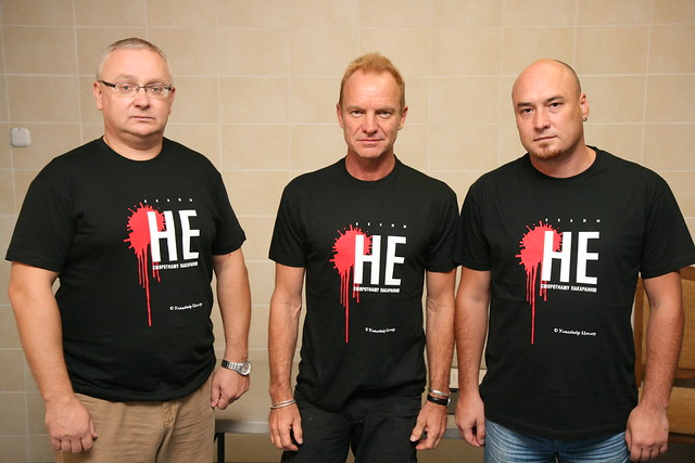 Sting wih the local human rights defenders