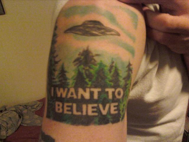 Small X Files Tattoo: 5067662605_08a76cec49_z.jpg