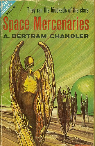 A. Bertram Chandler - Space Mercenaries - Ace Double M-133 - cover artist Alex Schomburg