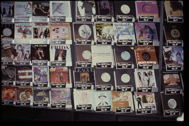 hmv display signs and logos from the 1980s