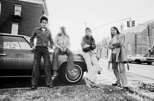 Brooklyn Boro Park Teens in Denim 1975 B&W