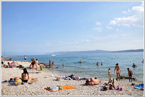 Crikvenica tengerpart, strand