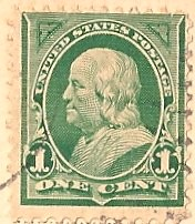 Usa Stamp 1898 Benjamin Franklin One Cent Flickr Photo Sharing