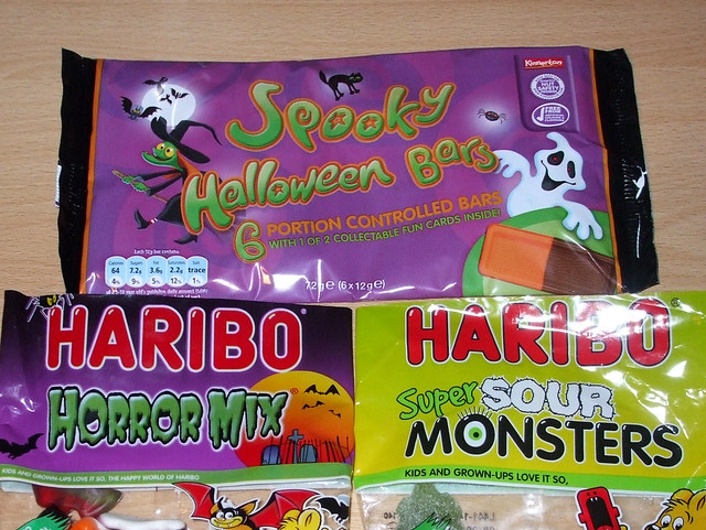 Halloween Candy 2010: Spooky Halloween Bars Zooomed In