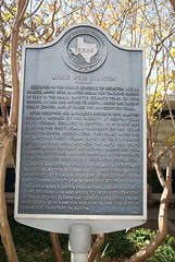 Photo of Annie Webb Blanton black plaque