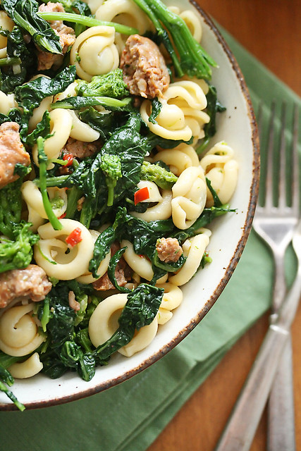 Pasta with Sausage and Rapini