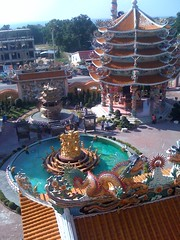 View from the top floor of the Chinese temple
