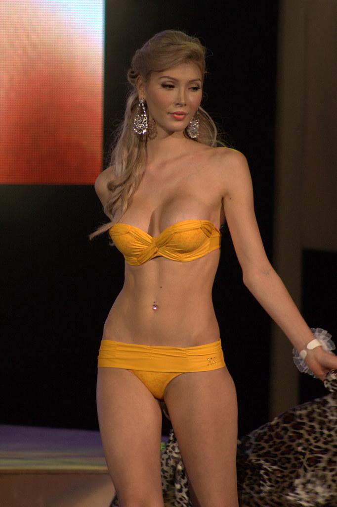 Ladyboy Wearing Bikini During The Miss International Queen
