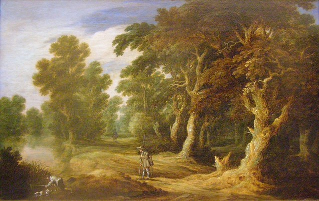 Alexander Keirincx, Forest Landscape with Hunters, 1640s