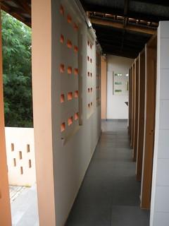VVU dry toilet inside access by top daylight illumination 1 BBT