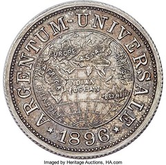 1896 Universale Argentum One Fifth Talent obverse