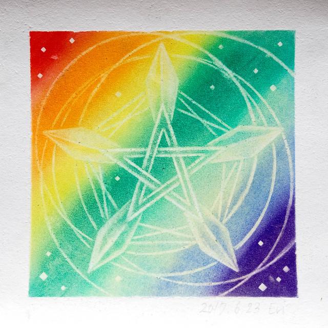 My third pastel mandara art