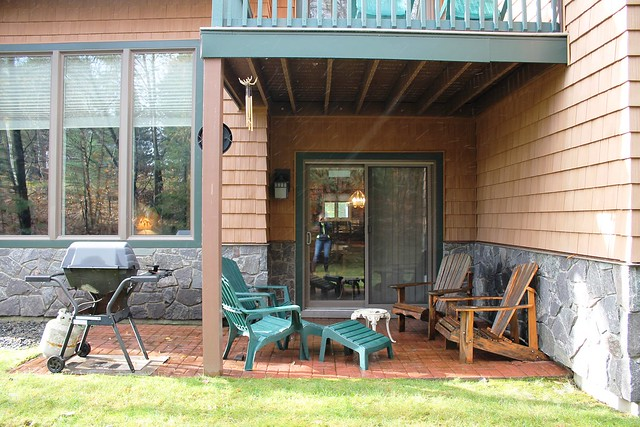 Morning Moose features a covered open patio with grill and dining area; private back yard perfect for your children or pets use;