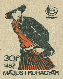 Hungarian matchbox label