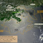 Deepwater Horizon Oil Spill - MODIS/Aqua Detail (with interpretation), July 28, 2010