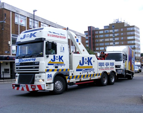 J and K Recovery. JK55DAF (3). Dunstable town center. August 2010, on the 24th
