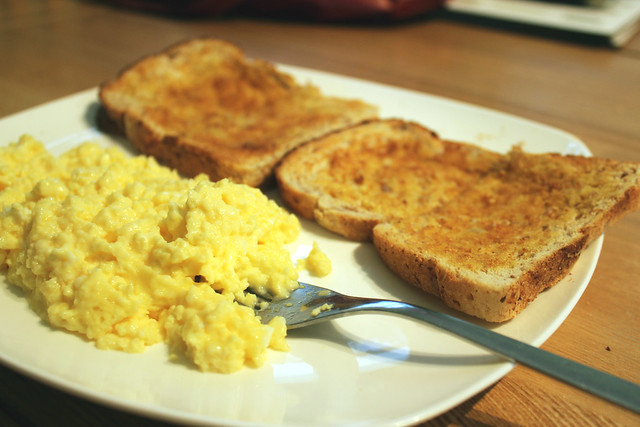 scrambled eggs and toast | I'm obsessed,seriously amazing ...