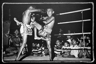Kickboxers in Bangkok, Thailand, 1995