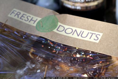 """camping food (""""fresh"""" donuts)"""