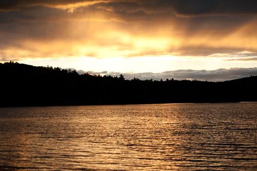 sunset rain golden