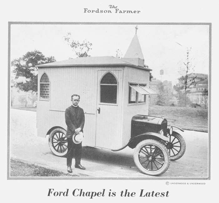 This minister turned a Model T into a mobile church, 1922