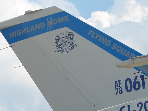 Highland Home Flying Squadron jet tail fin