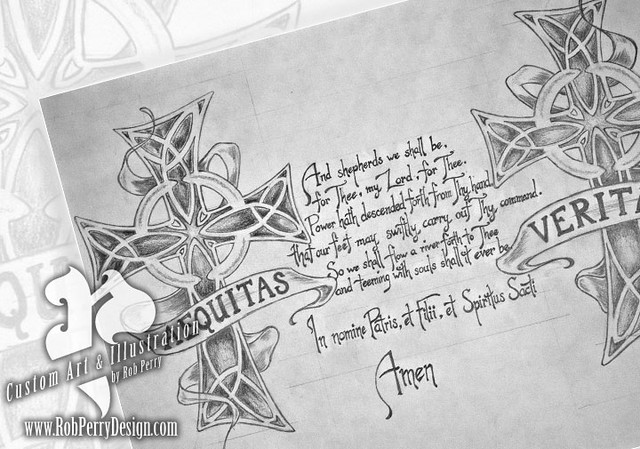 tattoo illustration custom boondock saints film tribute tattoo design ...