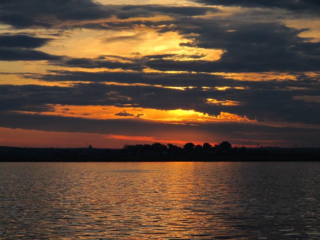 Sunset over Lake Siutghiol