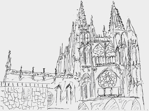 Burgos:  cathedral quick sketch