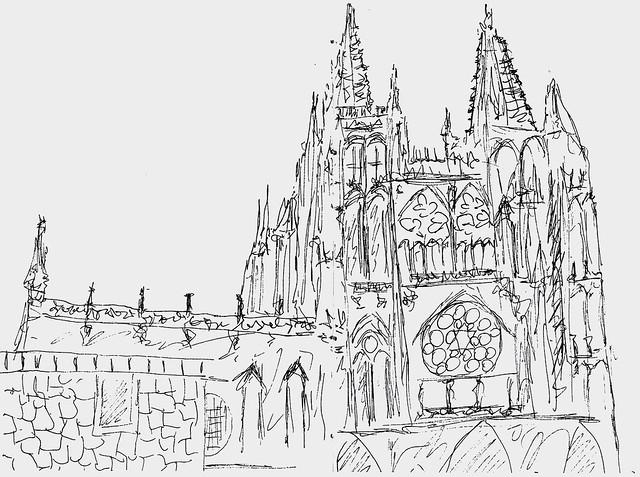 Burgos cathedral quick sketch my site artealmaana - Globalcolor burgos ...