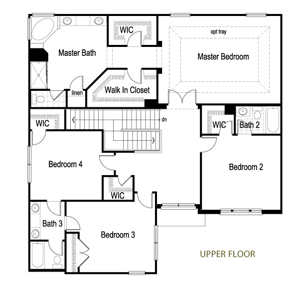 Dunberry 2 story upper floor plan flickr photo sharing for Master bedroom with sitting room floor plans