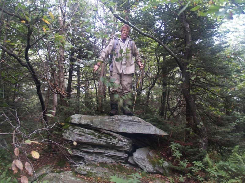 Paul on the summit block of Sherrill