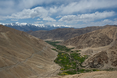 sky cloud india mountain green landscape valley ladakh