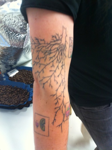 Stephen Vick's coffee tattoo | Flickr - Photo Sharing!