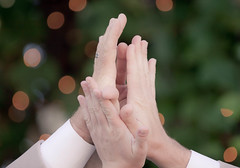 groom(0.0), hand(1.0), arm(1.0), finger(1.0), limb(1.0), close-up(1.0), person(1.0), interaction(1.0), holding hands(1.0),