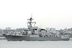 USS Decatur departs San Diego for deployment in this file photo from September 2010. (U.S. Navy photo by Mass Communication Specialist 3rd Class Travis Mendoza)