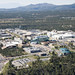 Aerial view of Los Alamos National Laboratory.
