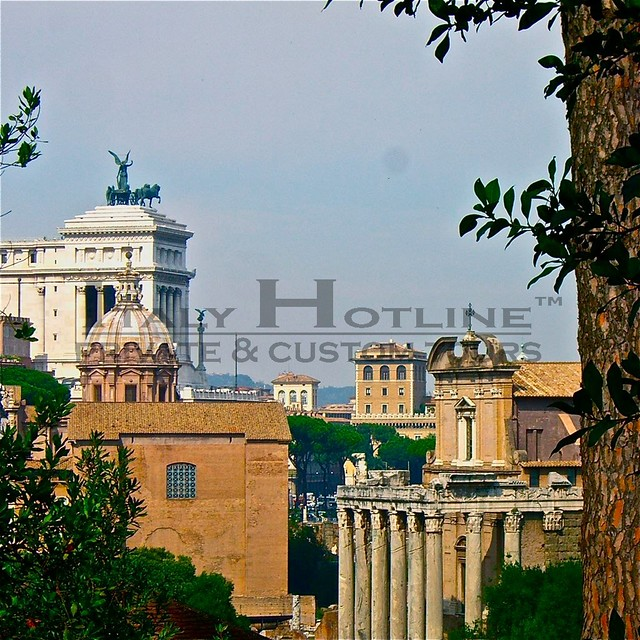 Ancient view of Roman Forum and the city of Rome