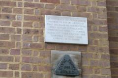 Photo of University of London stone plaque