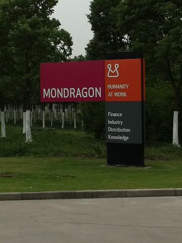 Visitando el polígono industrial que la Corporaciòn Mondragòn tiene en China.