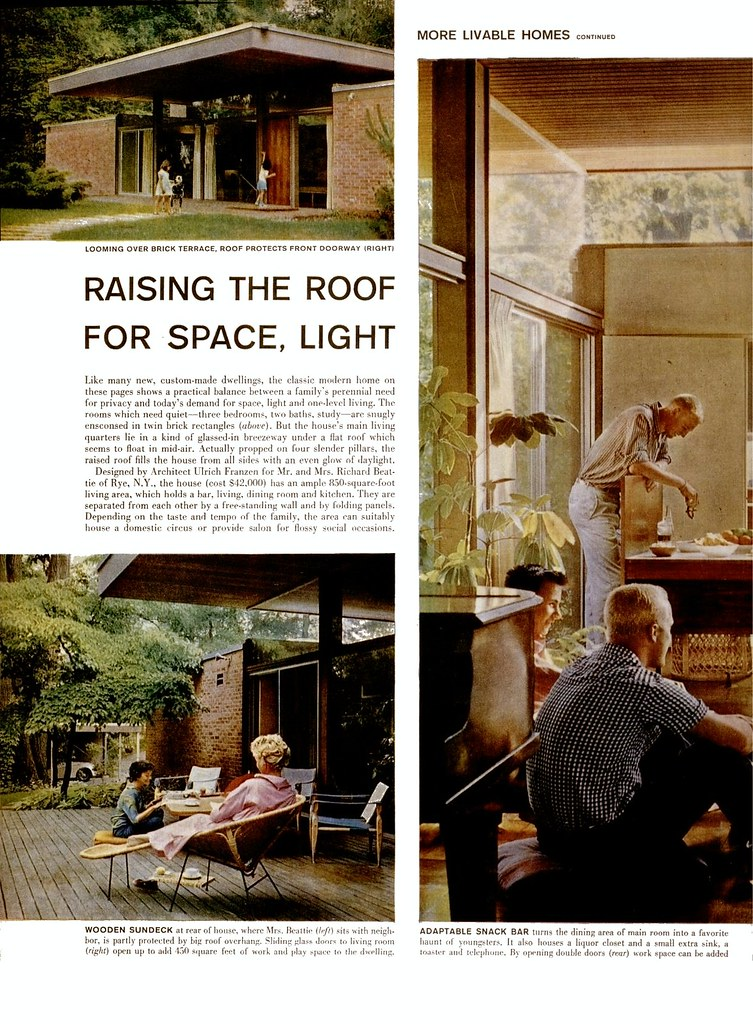 Beattie Residence - Rye, New York - 1958 (Page 1 of 2)