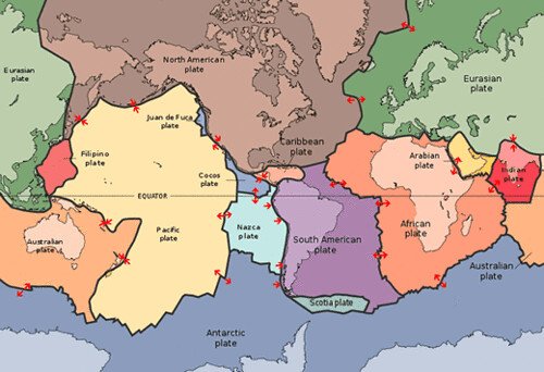 Map Of Major Tectonic Plates In The World