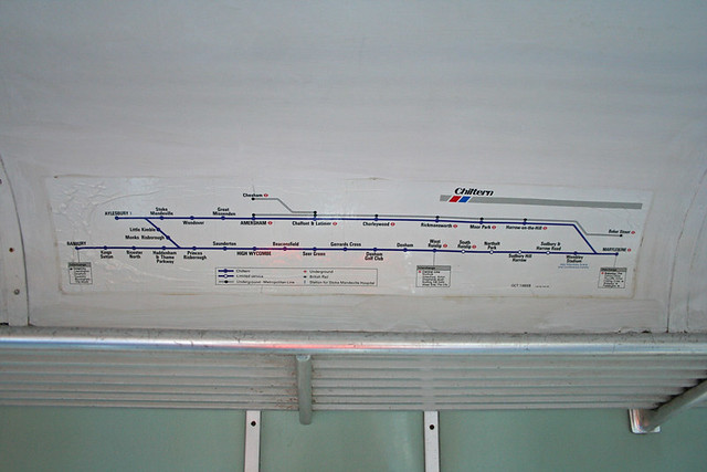 Network South East Chiltern Map In Class 108 (56224)