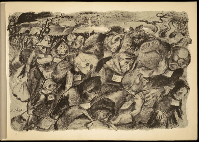Lithograph by Leo Haas (1901-1983), Holocaust artist,  who survived Theresienstadt and Auschwitz from Flickr via Wylio