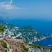 At the top of the Mediterranean Island of Capri, Italy