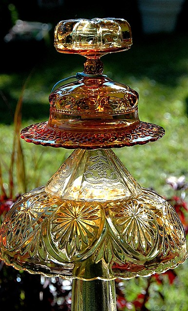 Glass garden ornament flickr photo sharing for Flower garden ornaments