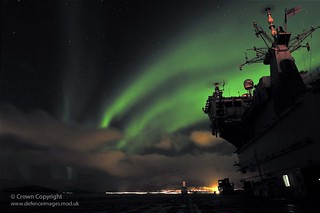 The Northern Lights Are Captured Over HMS Ocean