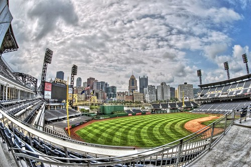 PNC Park fisheye from the Keystone Club