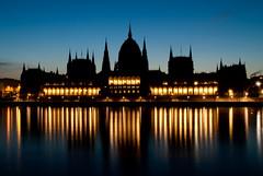 Sunrise with parliament closer