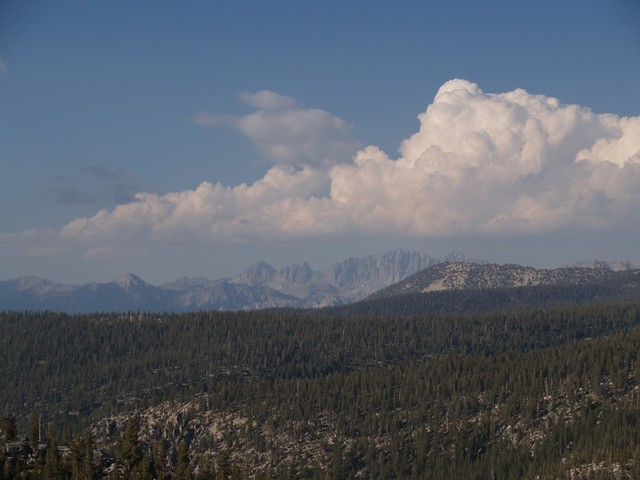Zoomed-in view of what I believe is the Palisade Crest, far to the northeast of us.